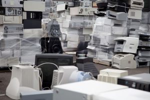 Stockpile of Old Computers and Printers