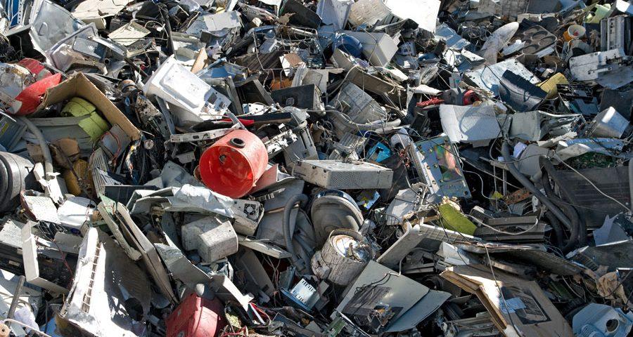 Pile of eWaste