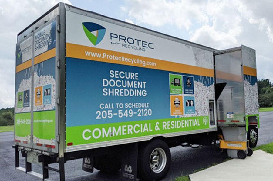 Paper Shredding Truck
